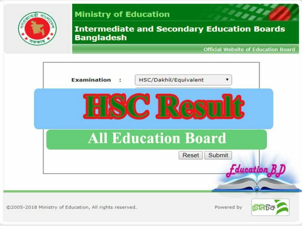 BD HSC Exam Result 2019 Declared With MarkSheet Check @ www