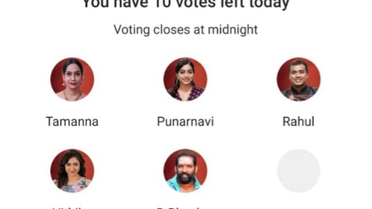 Bigg Boss Telugu Vote 3: Thamanna, Punarnavi, Rahul, Vithika